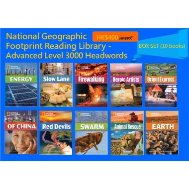 National Geographic Footprint Reading Library - Advanced Level 3000 Headwords (Box Set - 10 books)
